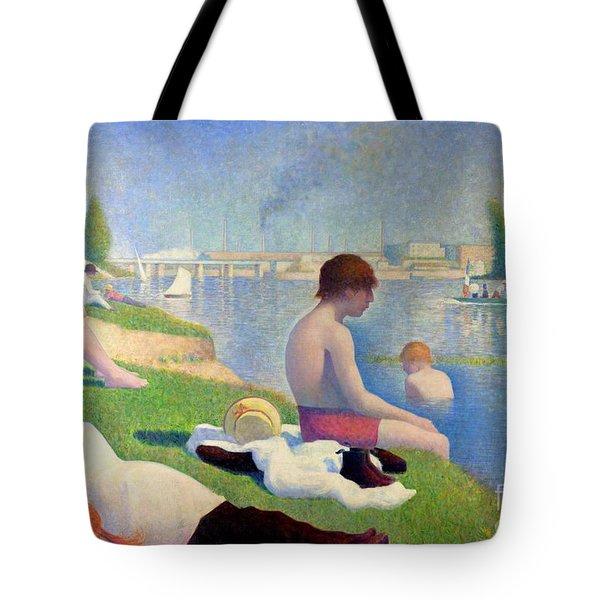 Bathers At Asnieres Tote Bag