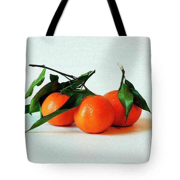 11--01-13 Studio. 3 Clementines Tote Bag