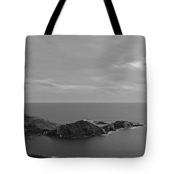 Dawn In Black And White In The Cap De Creus Tote Bag