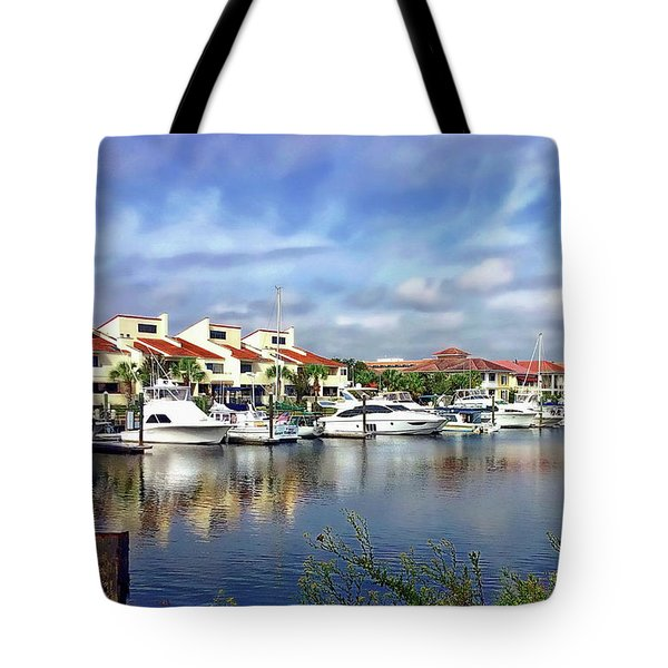 Tote Bag featuring the photograph Pensacola Bay by Anthony Dezenzio
