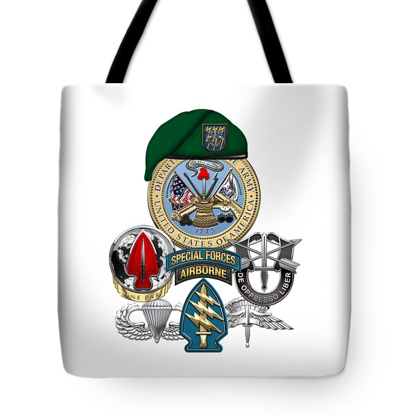12th Special Forces Group - Green Berets Special Edition Tote Bag