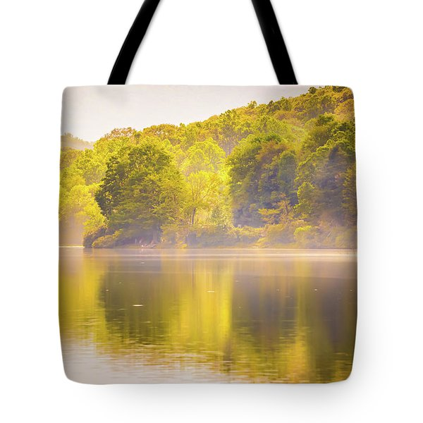 Tote Bag featuring the photograph Julian Price Lake, Along The Blue Ridge Parkway In North Carolin by Alex Grichenko