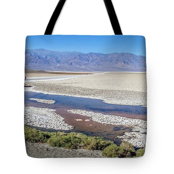 Tote Bag featuring the photograph Badwater Basin Death Valley National Park California by Alex Grichenko