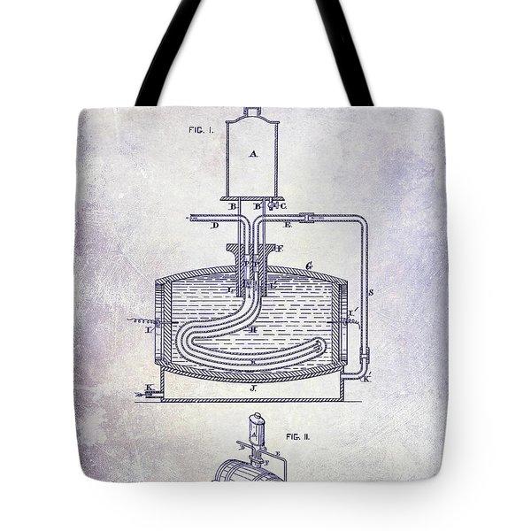 1880 Liquor Aging Patent Blueprint Tote Bag