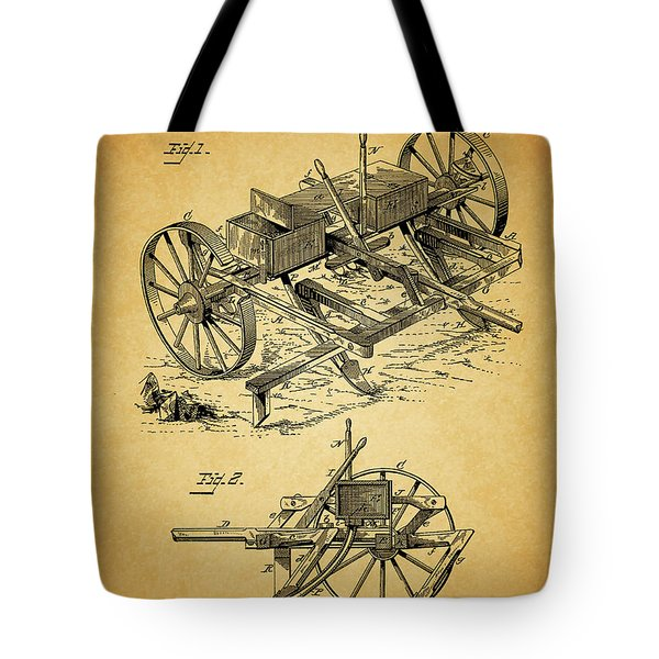1885 Corn Planter And Plow Tote Bag