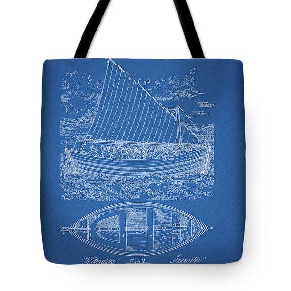 1885 Life Boat Patent Tote Bag