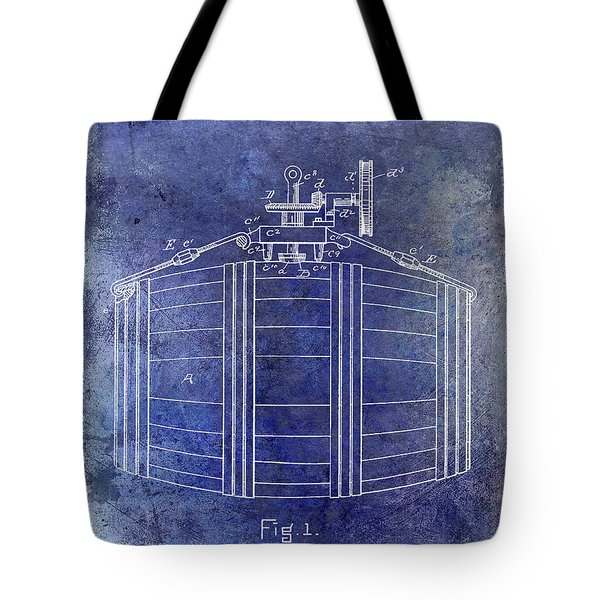 1888 Whiskey Or Beer Barral Patent Blue Tote Bag
