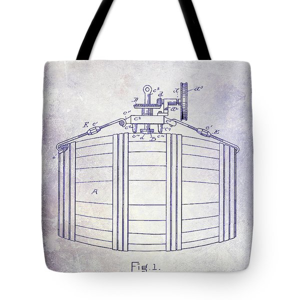 1888 Whiskey Or Beer Barral Patent Blueprint Tote Bag