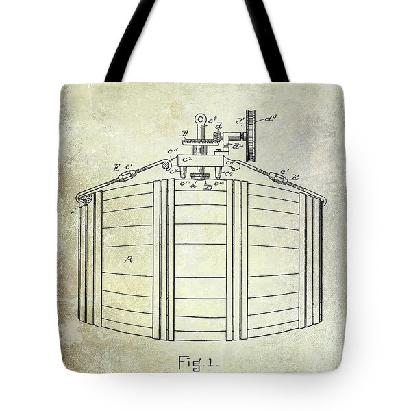 1888 Whiskey Or Beer Barral Patent Tote Bag