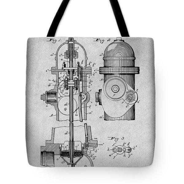 1903 Fire Hydrant Gray Patent Print Tote Bag