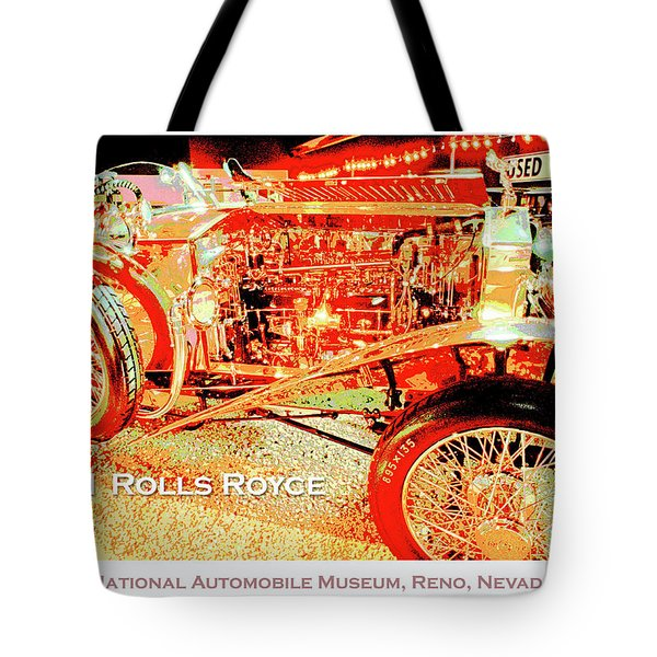1921 Rolls Royce Classic Automobile Tote Bag