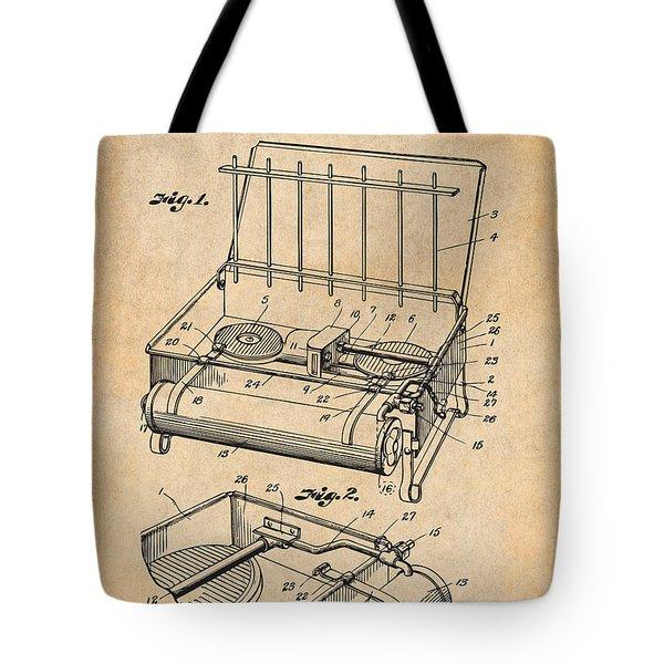 1924 Coleman Camp Stove Antique Paper Patent Print Tote Bag