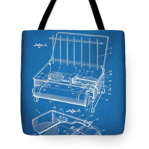 1924 Coleman Camp Stove Blueprint Patent Print Tote Bag
