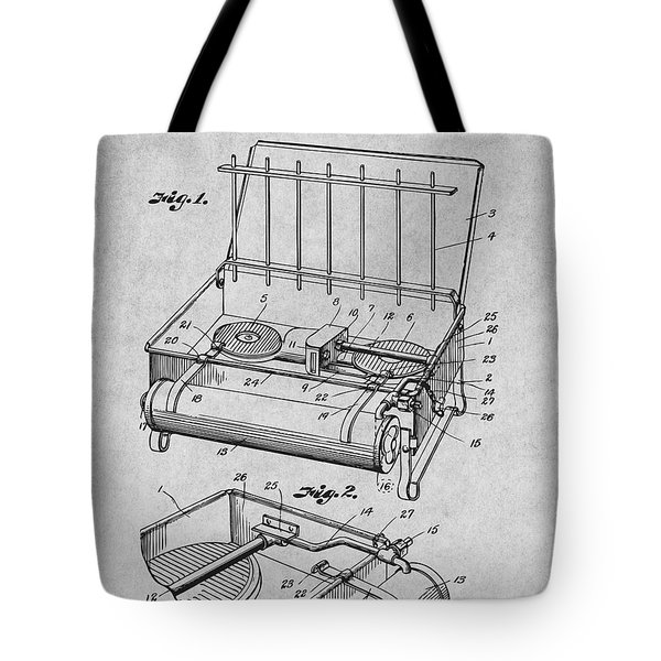 1924 Coleman Camp Stove Gray Patent Print Tote Bag