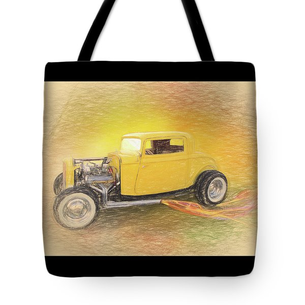 1932 Ford Coupe Yellow Tote Bag