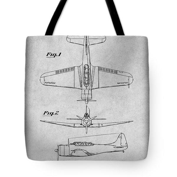 1940 Douglas Sbd Dauntless Patent Print Gray Tote Bag