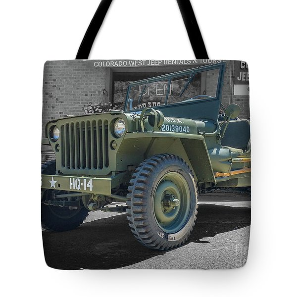 1942 Willys Gpw Tote Bag