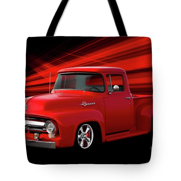 1956 Ford F100 Stepside Pickup Tote Bag
