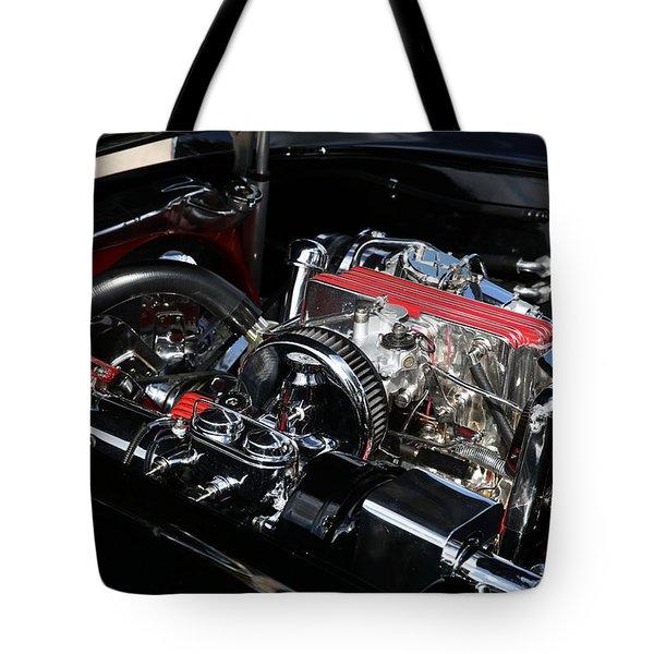 1957 Chevrolet Corvette Engine Tote Bag