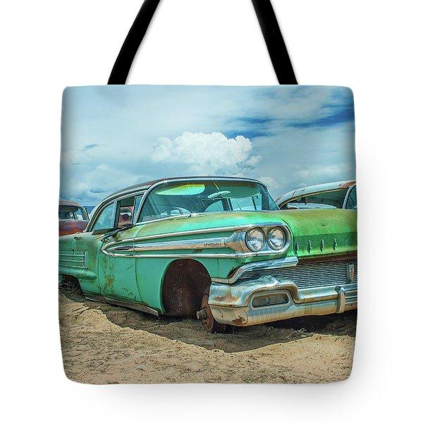 1958 Oldsmobile Super 88 Tote Bag