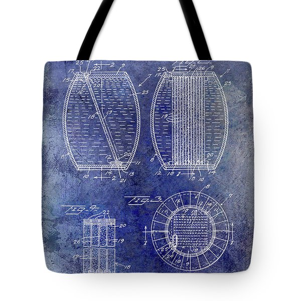 1962 Whiskey Aging Patent Blue Tote Bag