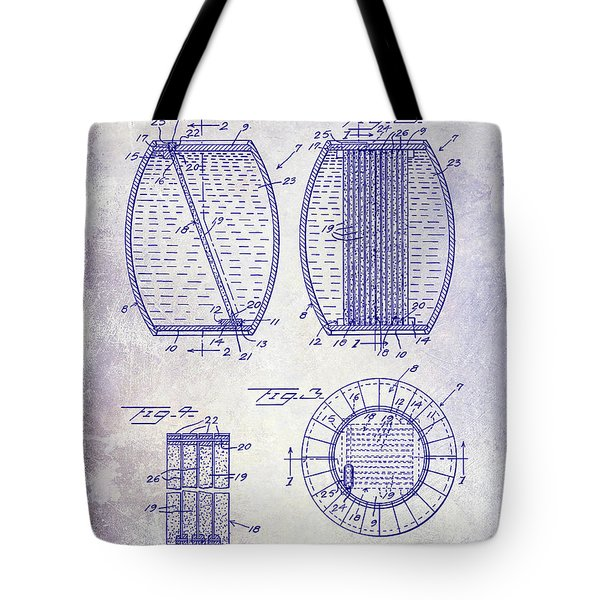 1962 Whiskey Aging Patent Blueprint Tote Bag