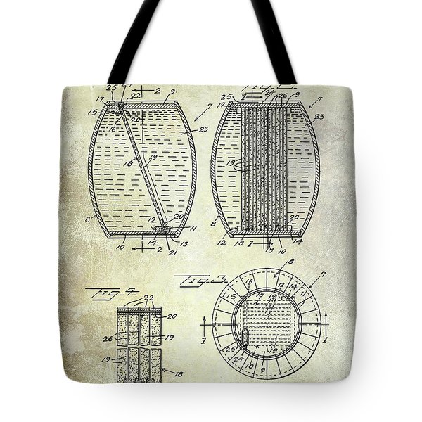 1962 Whiskey Aging Patent Tote Bag