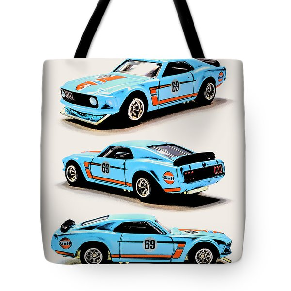 1969 Ford Mustang Boss 302 Tote Bag