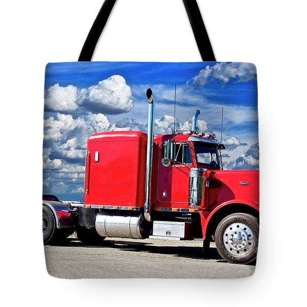 1986 Peterbilt Model 359 Big Rig Tote Bag
