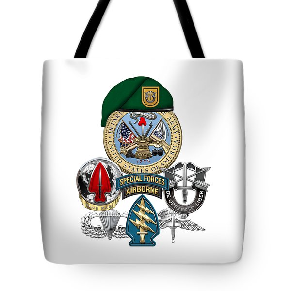 1st Special Forces Group - Green Berets Special Edition Tote Bag