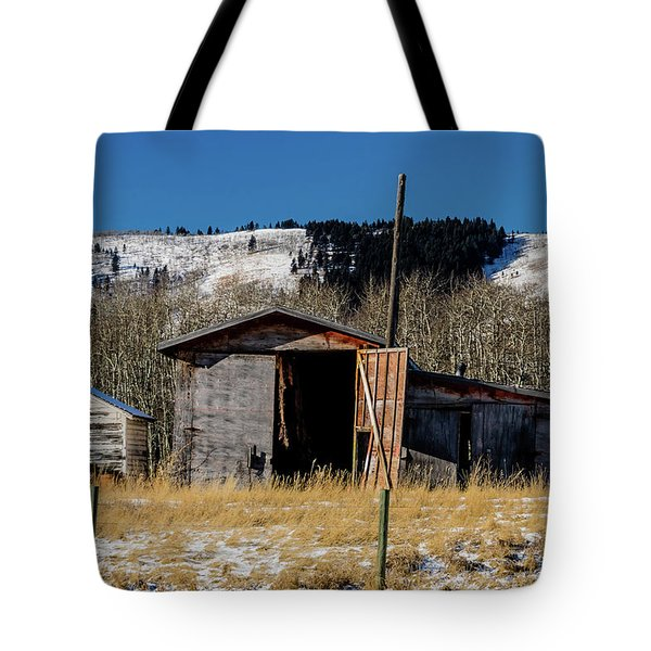 A Sign Of The Times, Run Diown Farm Out Buildings And Barns, Alb Tote Bag