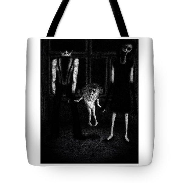 Tote Bag featuring the drawing Adeline's Family - Artwork by Ryan Nieves