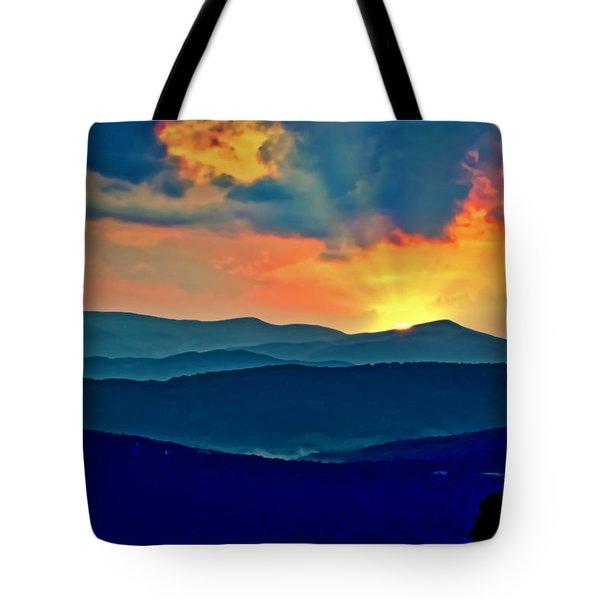 Blue Ridge Mountains Sunset Tote Bag