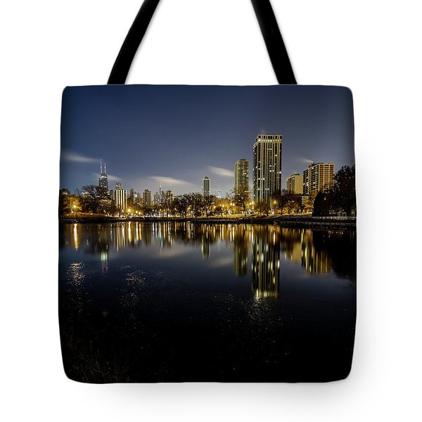 Chicago Skyline At Dawn  Tote Bag