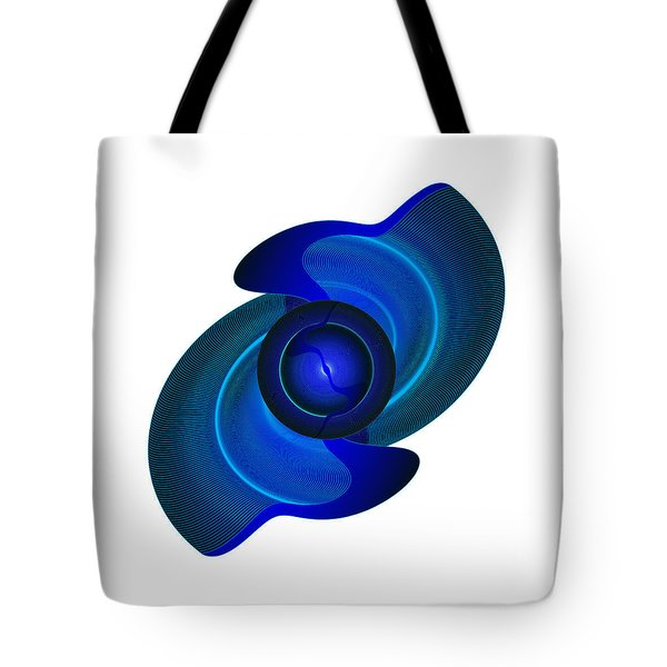 Tote Bag featuring the digital art Circulosity No 3444 by Alan Bennington