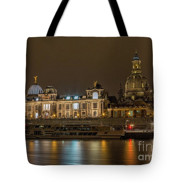 Tote Bag featuring the photograph Dresden By Night by Bernd Laeschke