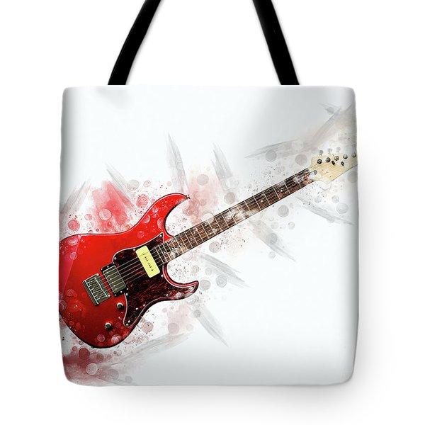 Electric Guitar Art Tote Bag
