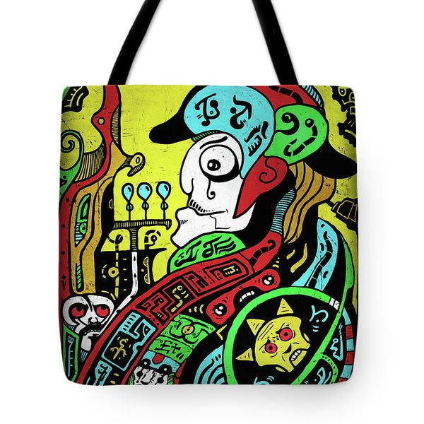 Tote Bag featuring the digital art Emperor by Sotuland Art