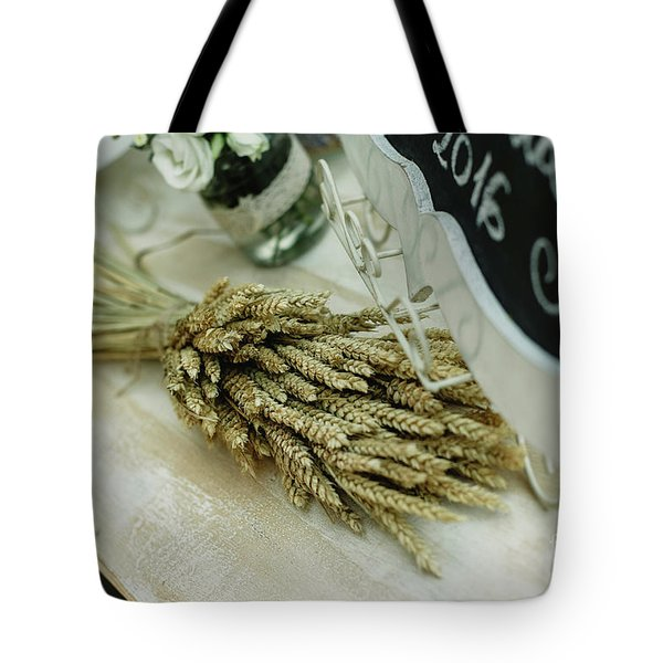 Floral Decorations In The Spaces Of A Wedding Restaurant. Tote Bag