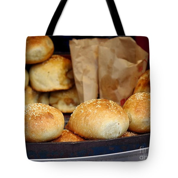 Freshly Baked Buns With Stuffing Tote Bag
