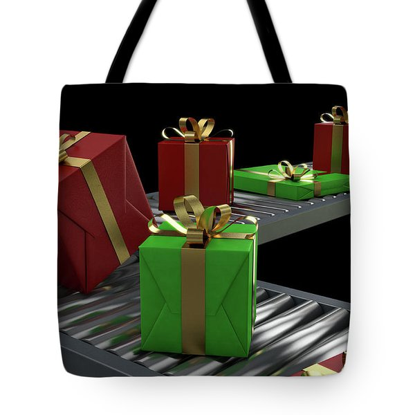 Gift Boxes On Conveyor Tote Bag