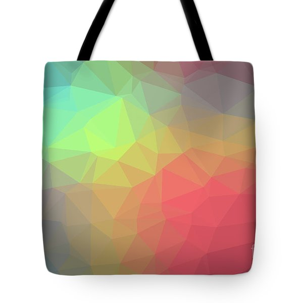 Gradient Background With Mosaic Shape Of Triangular And Square C Tote Bag