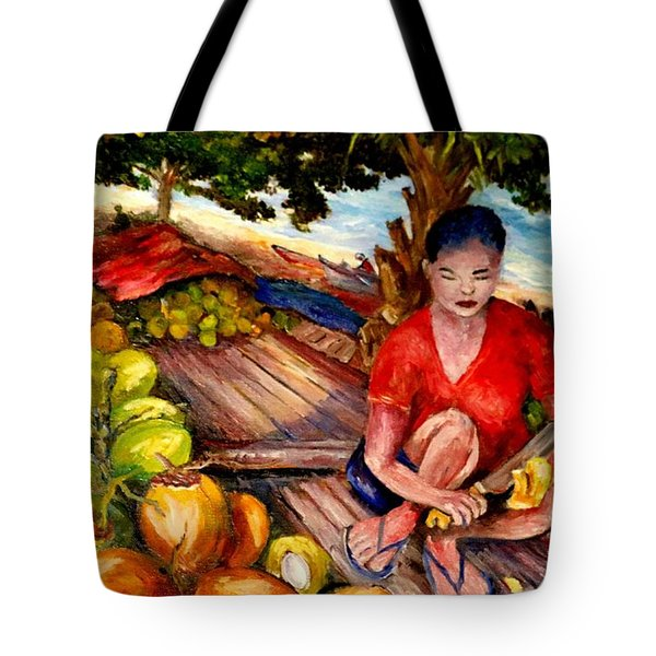 Green Coconut Cafe. Tote Bag