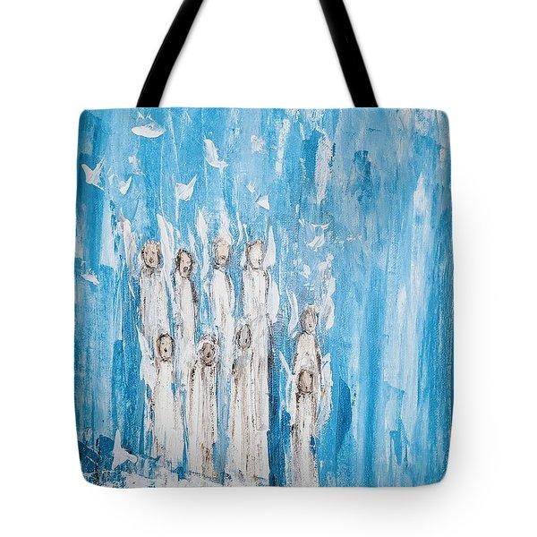 Heavenly Host Of Angels  Tote Bag