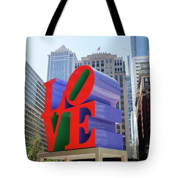 Tote Bag featuring the photograph Love In The City - Philadelphia by Bill Cannon