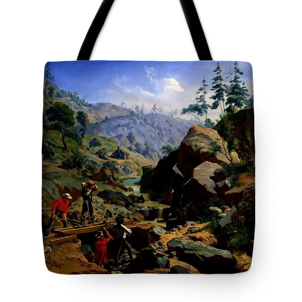 Miners In The Sierras Tote Bag