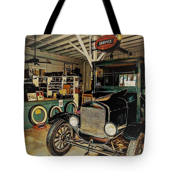 Tote Bag featuring the photograph My Garage by Randy Sylvia
