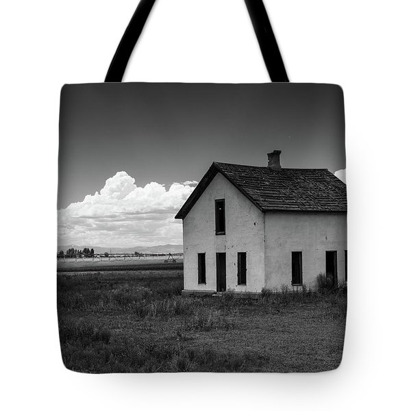 Old Abandoned House In Farming Area Tote Bag