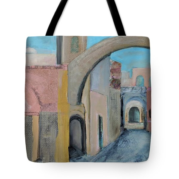 Tote Bag featuring the painting Old City by Jillian Goldberg