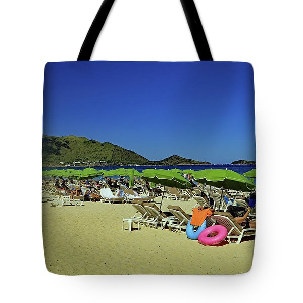 Tote Bag featuring the photograph On The Beach by Tony Murtagh